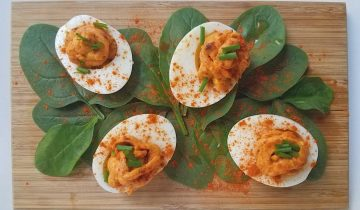 Devils Eggs à l'Harissa by Katy Lee