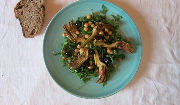 Salade de Pois Chiches, Olives Noires et Artichauts d'Ilaria Brunetti